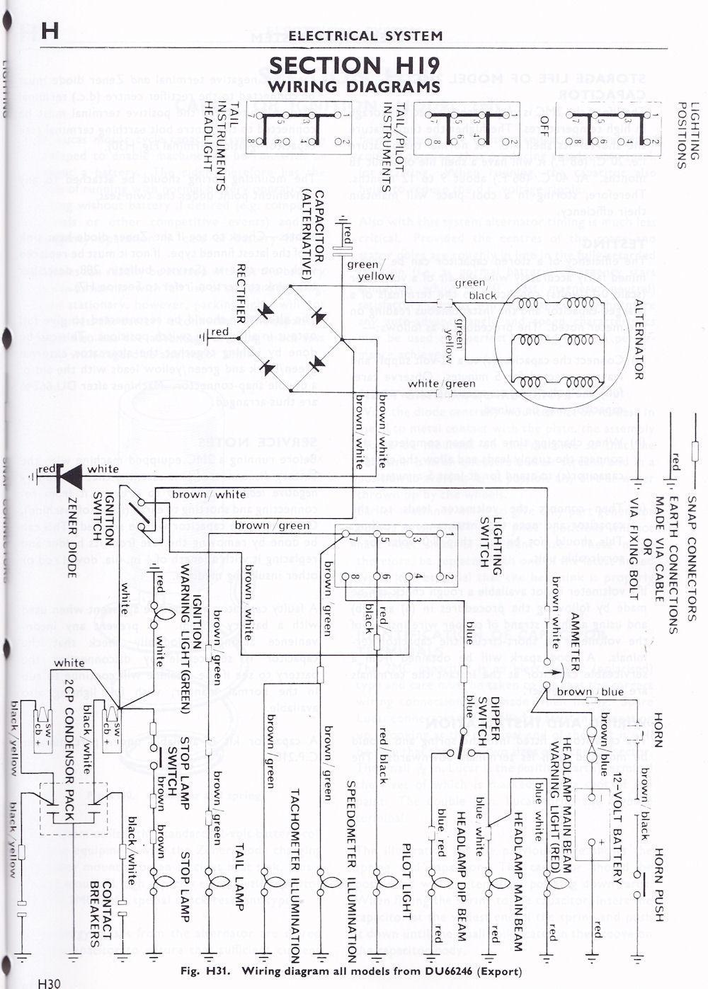 Triumph T100 TR6 T120 Wiring Harness/Loom 1969-70