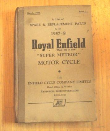 Royal Enfield Spare & Replacement Parts 1957-58 / Teilebuch