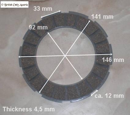 AJS/Matchless Clutch Friction Plate Burman Gearbox