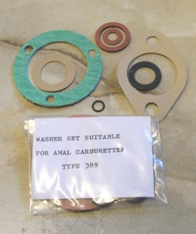 Amal Carburettor Gasket Set f. Amal Carb. 389