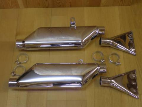 Ariel Mod. F Silencer Set Chrome 1 7/8""