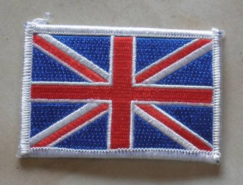 Union Jack Sew on Badge