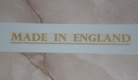 Made in England Transfer