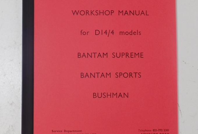 BSA D14 Workshop Manual Book