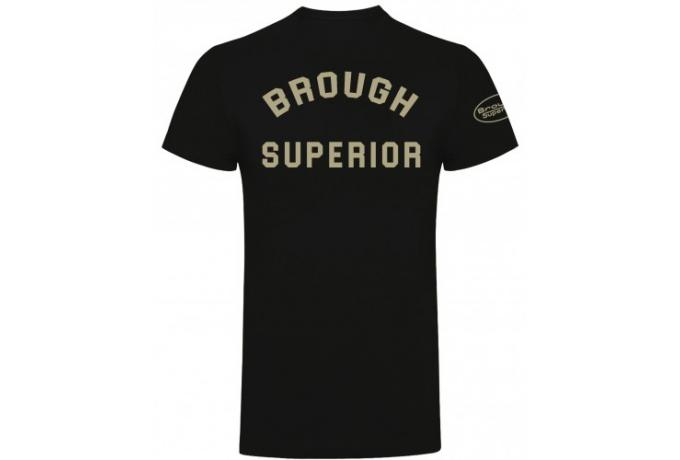 Brough Superior - Henry Cole Distressed Black/White T-Shirt Small