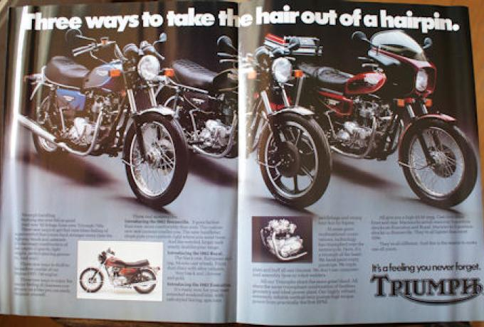 It's a feeling you never forget. Triumph, Brochure