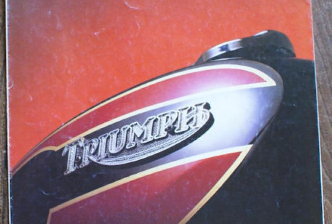 Triumph 'The new feeling of Triumph created by Craftsmen, Brochure