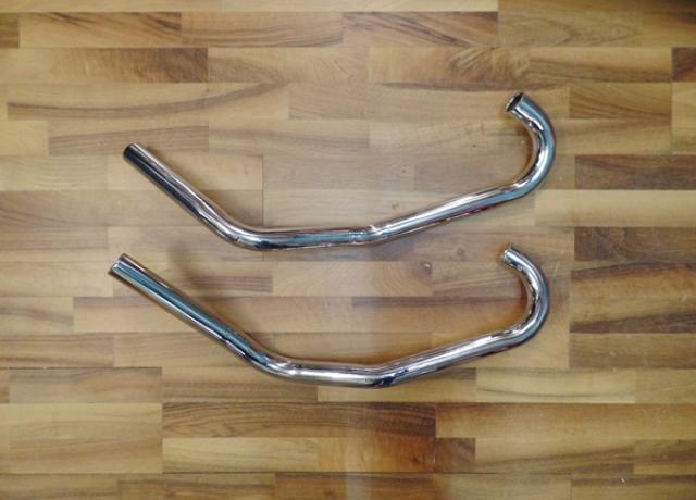 "Norton Dominator 77,88,99 swept back 1 5/8"" Exhaust Pipes /Pair"