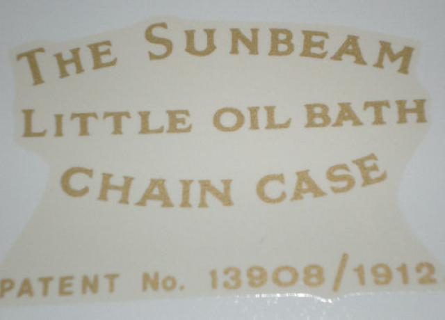 Sunbeam Transfer for Chaincase, all years