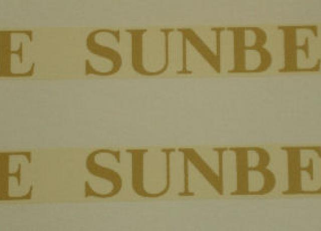 Sunbeam Transfer for Tank up to 1928/Pair
