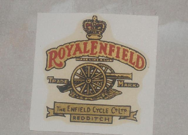 Royald Enfield Transfer for Tank 1930/54