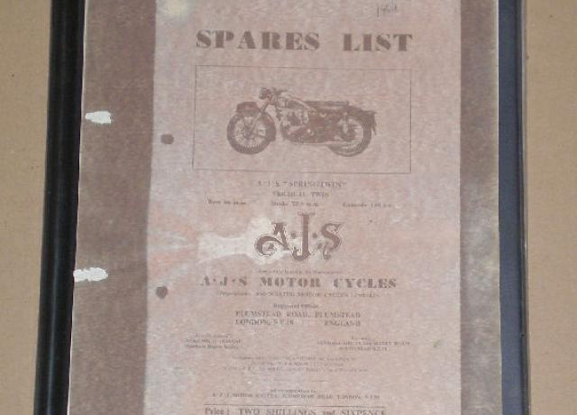 "AJS Spares List ""Springtwin"" vertical twin"
