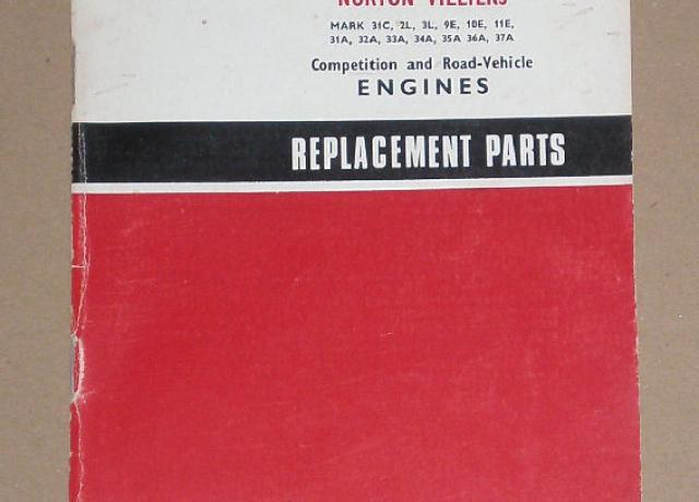 Norton Villiers Replacement Parts 1968 Norton Villiers Mark 31C, 2L, 3L, 9E, 11E, 31A, 32A, 33A, 34A