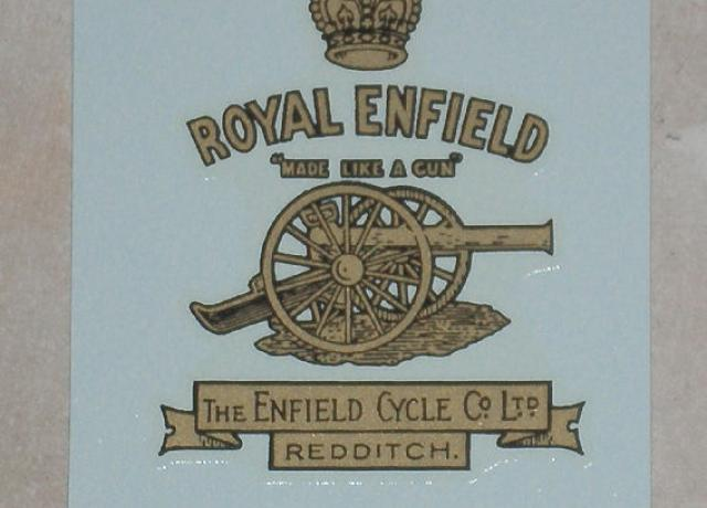 Royal Enfield Transfer for Headstock/Licence Holder to 1930