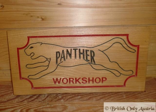 Panther wooden sign