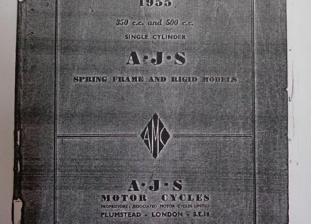 AJS 350cc and 500cc Single Cylinder Spares List 1955, Copy