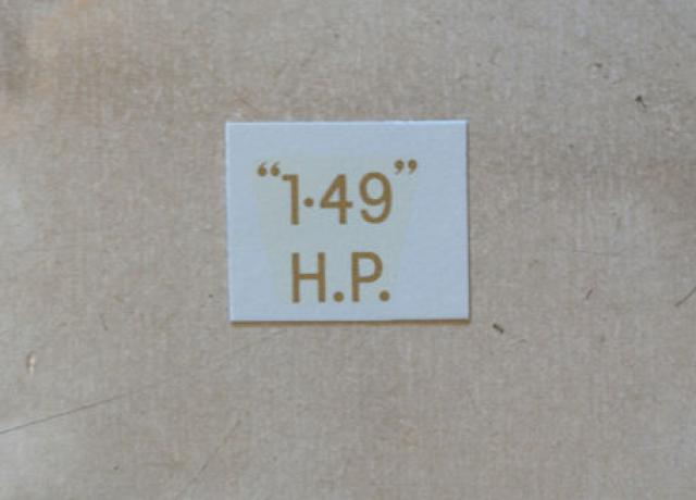 "BSA ""1.49"" H.P. Transfer for rear Number Plate 1934-36"