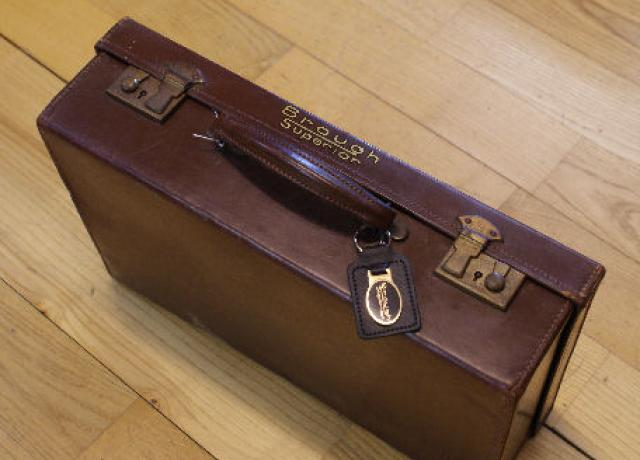 Brough Superior Vintage Leather Suitcase