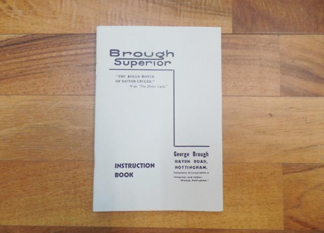 Brough Superior Late Instruction Book post 1930
