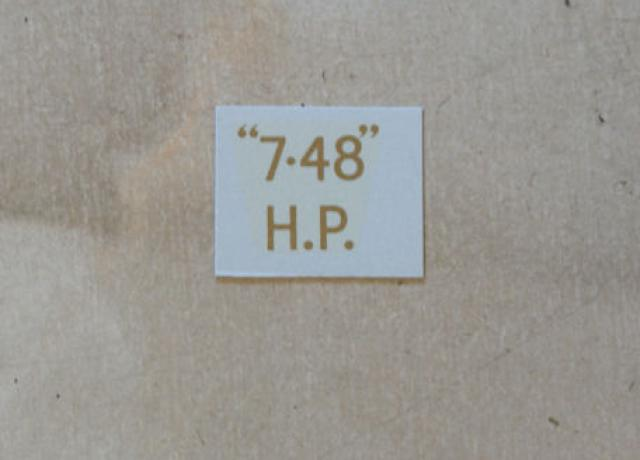 "BSA ""7.48"" H.P. Transfer for rear Number Plate 1936"