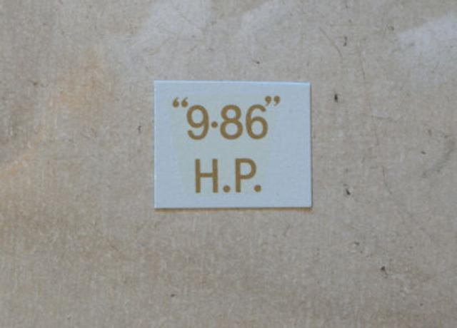 "BSA ""9.86"" H.P. Transfer for rear Number Plate 1927-36"