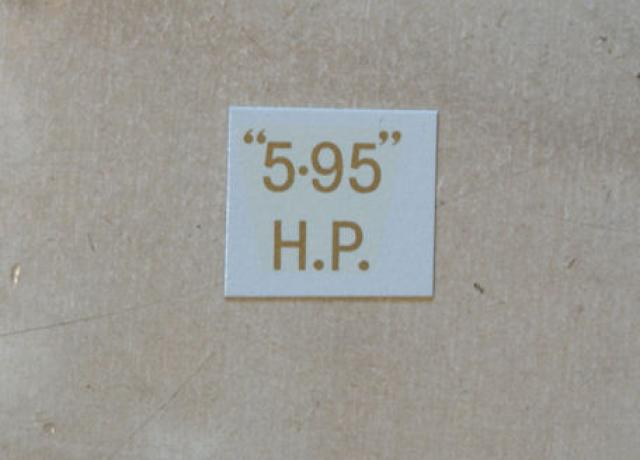 "BSA ""5.95"" H.P. Transfer for rear Number Plate 1933-36"