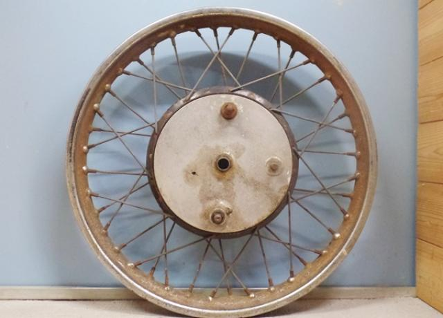 "BSA Wheel 8"" with brake plate used A50/A65/B44"