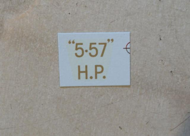 "BSA ""5.57"" H.P. Transfer for rear Number Plate 1927-32"