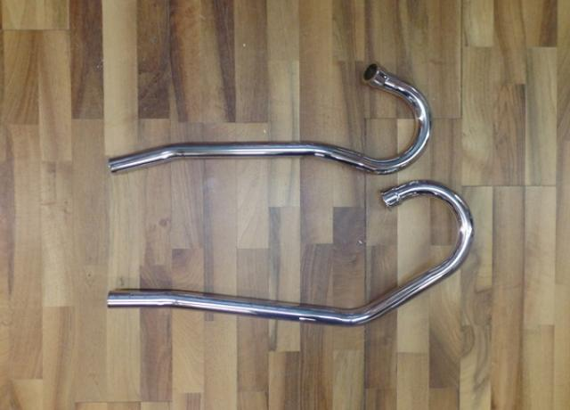Norton Commando S Exhaust Pipes Highlevel Left Hand ChromePair