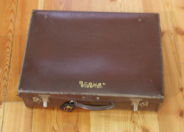 Brough Superior Vintage Leatherette Suitcase