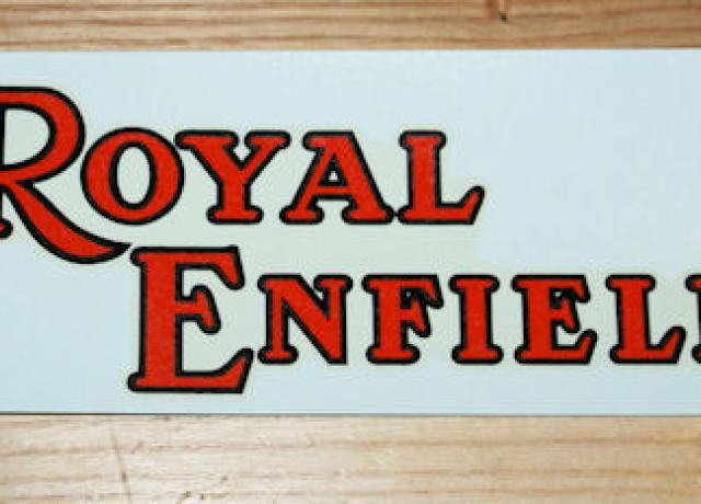 Royal Enfield Transfer for Tank 1936 on