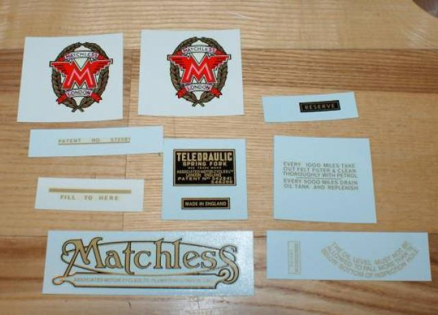 Matchless G3LS Transfer Set 350 cc Swing. Arm 1949/50