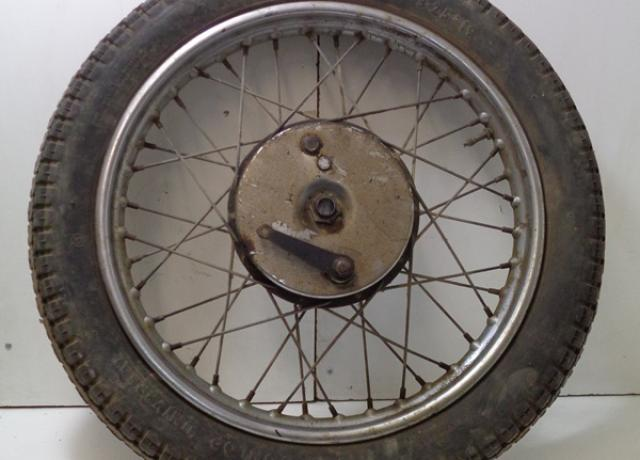 "BSA B31 Front Wheel 7"" Brake, 19"" Rim, used"