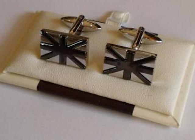 Brough Superior Union Jack Cuff Links / black