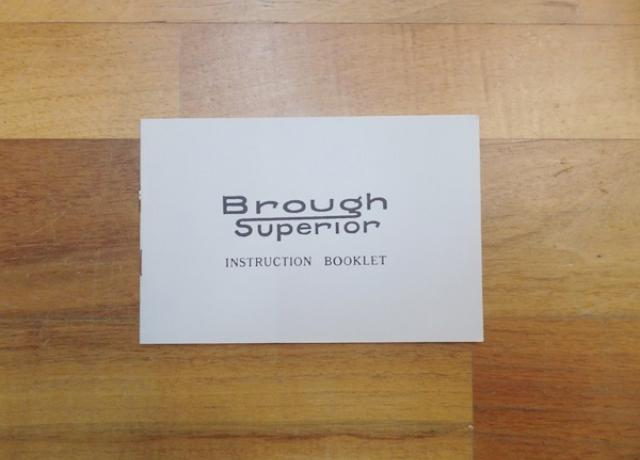 Brough Superior Early Instruction Book 1924-1930