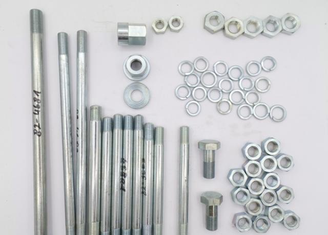 Engine and Gearbox Fixing Set Triumph Pre Unit 6T.T110.TR6.T120/Bolt/Nuts/Studs. Duplex Frame