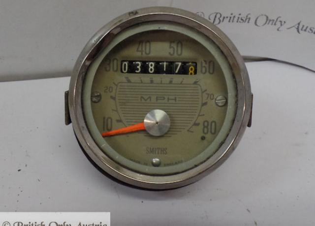 Triumph Tiger Cub Smiths Speedometer 10-80 MPH used