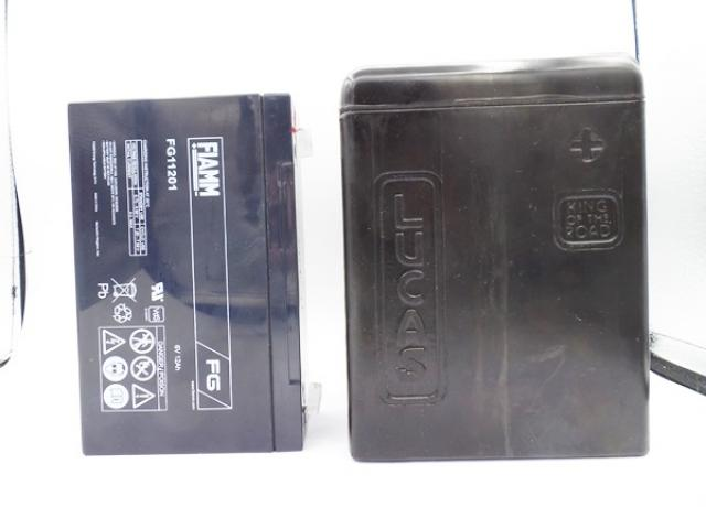Battery Box Lucas-King of the Road +Fiamm Gel-Battery 6V-12Ah