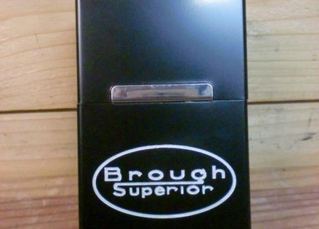 Brough Superior Cigarette Box Aluminium black