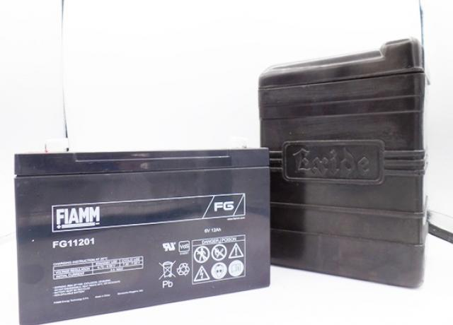 Battery Box Exide with Fiamm Gel Battery 6V-12Ah