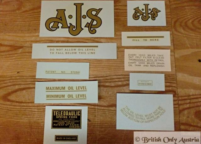 AJS 500cc Single 18CS Transfer Set - 1952-1955