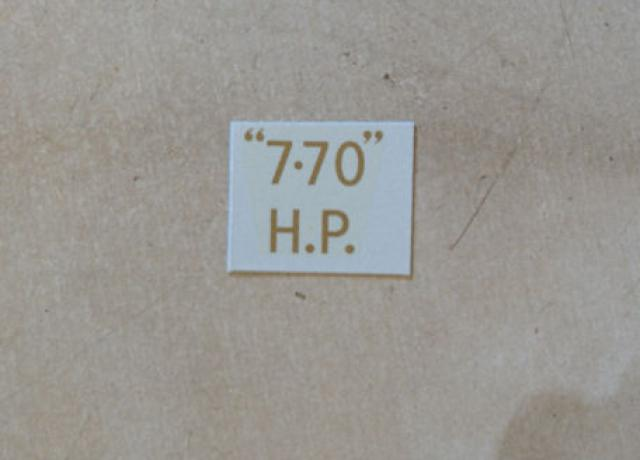 "BSA ""7.70"" H.P. Transfer for rear Number Plate 1927-31"