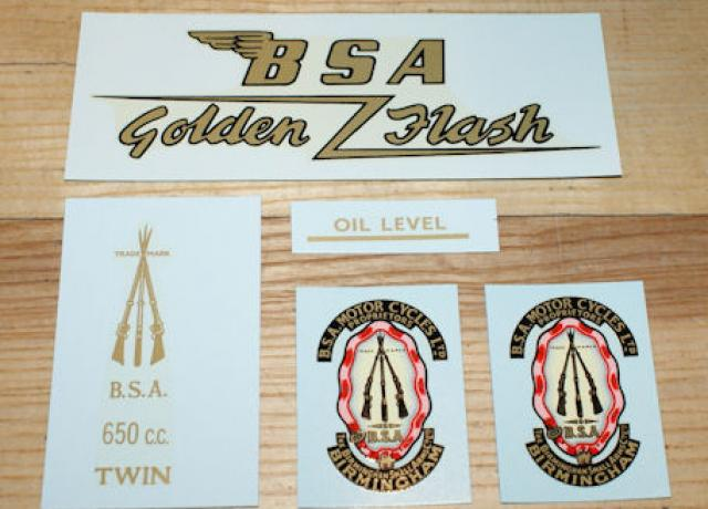 BSA A10 Transfer Set Black Livery Golden Flash 1954-63