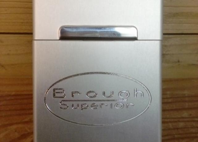 Brough Superior Cigarette Box Aluminium silver