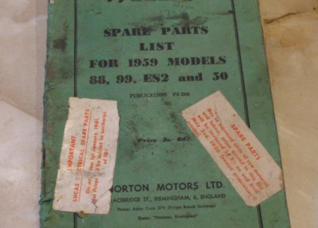 Norton Spare Parts List for 1959 Mod.