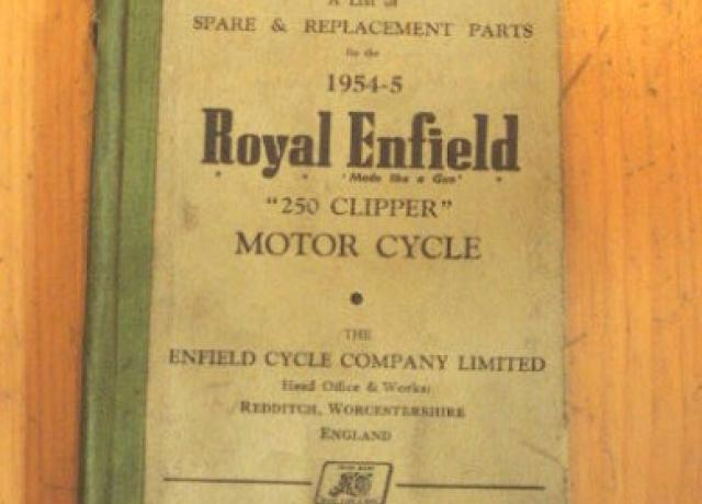 Royal Enfield Spare & Replacement Parts 1954-5 / Teilebuch