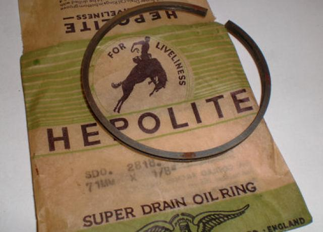 Hepolite Piston Ring 71mm x 1/8""