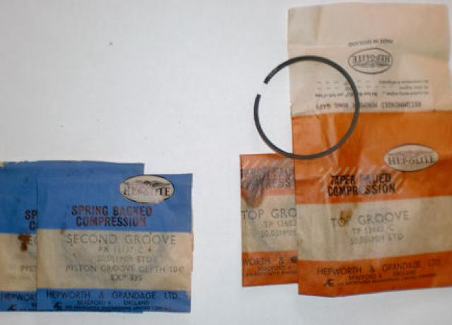Hepolite Piston Ring Set Villiers Type STD. 1957 259cc