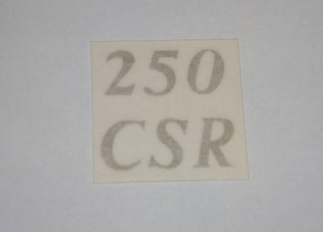 "Matchless ""250 CSR"" Sticker for Rear Number Plate 1962-66"