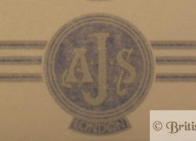 AJS Sticker f. Side Panel 1961-62